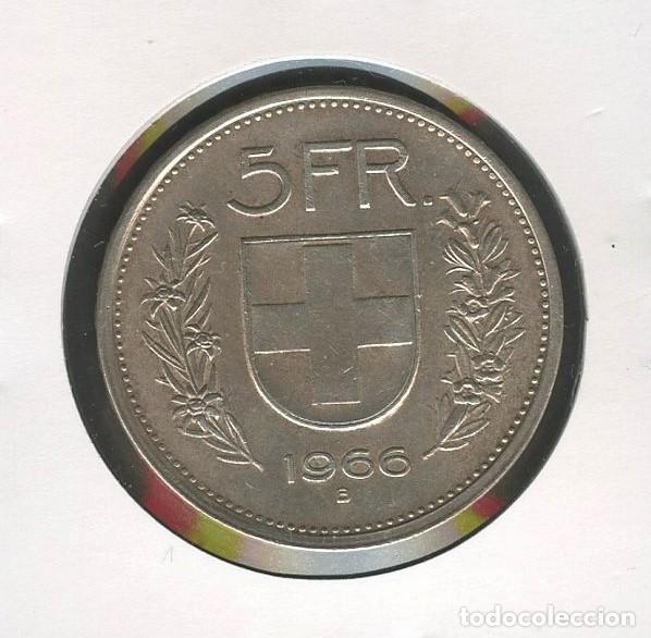 Monedas antiguas de Europa: SUIZA, MONEDA DE PLATA, WILLIAM TELL, VALOR: 5 FRANCS, 1966, SILVER COIN SWITZERLAND - Foto 2 - 207041950