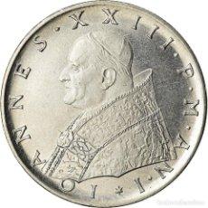 Monedas antiguas de Europa: MONEDA, CIUDAD DEL VATICANO, JOHN XXIII, 100 LIRE, 1959, ROME, EBC+, ACERO. Lote 207044658