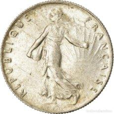 Monedas antiguas de Europa: MONEDA, FRANCIA, SEMEUSE, 50 CENTIMES, 1918, PARIS, EBC, PLATA, KM:854, LE. Lote 207044698