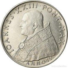 Monedas antiguas de Europa: MONEDA, CIUDAD DEL VATICANO, JOHN XXIII, 100 LIRE, 1962, ROMA, SC, ACERO. Lote 207044701