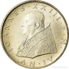 Monedas antiguas de Europa: MONEDA, CIUDAD DEL VATICANO, JOHN XXIII, 500 LIRE, 1962, ROMA, EBC+, PLATA. Lote 207044763