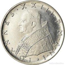 Monedas antiguas de Europa: MONEDA, CIUDAD DEL VATICANO, JOHN XXIII, 100 LIRE, 1959, ROME, EBC+, ACERO. Lote 207044772