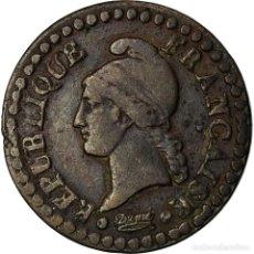 Monedas antiguas de Europa: MONEDA, FRANCIA, DUPRÉ, CENTIME, AN 7, PARIS, MBC, BRONCE, KM:646, GADOURY:76. Lote 207044792