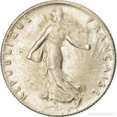 Monedas antiguas de Europa: MONEDA, FRANCIA, SEMEUSE, 50 CENTIMES, 1918, PARIS, EBC, PLATA, KM:854, LE. Lote 207044848