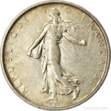 Monedas antiguas de Europa: MONEDA, FRANCIA, SEMEUSE, 5 FRANCS, 1963, PARIS, MBC+, PLATA, KM:926. Lote 207045033