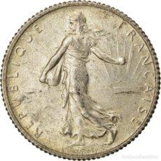 Monedas antiguas de Europa: MONEDA, FRANCIA, SEMEUSE, FRANC, 1919, PARIS, EBC, PLATA, KM:844.1, GADOURY:467. Lote 207045172