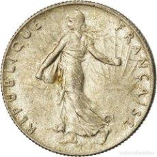 Monedas antiguas de Europa: MONEDA, FRANCIA, SEMEUSE, 50 CENTIMES, 1919, PARIS, EBC, PLATA, KM:854. Lote 207045198