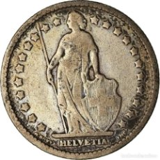 Monedas antiguas de Europa: MONEDA, SUIZA, FRANC, 1909, BERN, BC+, PLATA, KM:24. Lote 207144731