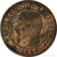 Monedas antiguas de Europa: MONEDA, FRANCIA, NAPOLEON III, NAPOLÉON III, CENTIME, 1855, PARIS, EBC+. Lote 207154328