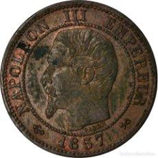 Monedas antiguas de Europa: MONEDA, FRANCIA, NAPOLEON III, NAPOLÉON III, CENTIME, 1857, ROUEN, EBC, BRONCE. Lote 207154395