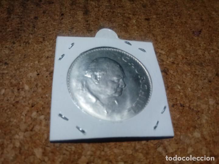 Monedas antiguas de Europa: MONEDA INGLESA CONMEMORATIVA DE CHURCHILL - Foto 2 - 207155602