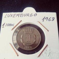 Monedas antiguas de Europa: LUXEMBURGO 1968, 1 FRANC. Lote 207192505
