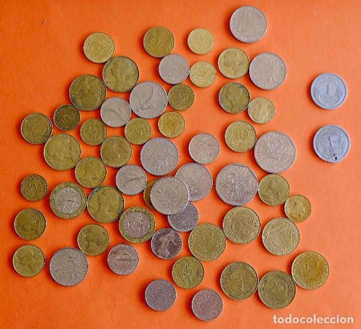 LOTE MONEDAS FRANCIA ANTES DEL EURO. DOS DE 1948 (Numismática - Extranjeras - Europa)