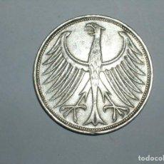 Monedas antiguas de Europa: ALEMANIA 5 MARCOS PLATA 1963 F (1856). Lote 207336125