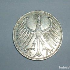 Monedas antiguas de Europa: ALEMANIA 5 MARCOS PLATA 1963 J (1858). Lote 207336215