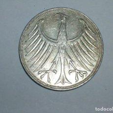 Monedas antiguas de Europa: ALEMANIA 5 MARCOS PLATA 1964 D (1859). Lote 207336262