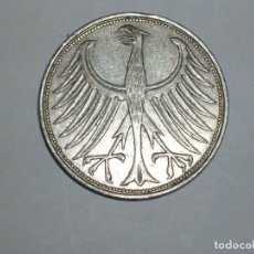 Monedas antiguas de Europa: ALEMANIA 5 MARCOS PLATA 1964 F (1860). Lote 207336287