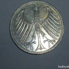 Monedas antiguas de Europa: ALEMANIA 5 MARCOS PLATA 1964 G (1861). Lote 207336328
