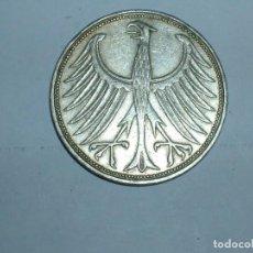 Monedas antiguas de Europa: ALEMANIA 5 MARCOS PLATA 1965 F (1864). Lote 207336528