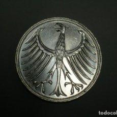 Monedas antiguas de Europa: ALEMANIA 5 MARCOS PLATA 1966 D (1867). Lote 207336642