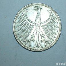 Monedas antiguas de Europa: ALEMANIA 5 MARCOS PLATA 1963 D (1922). Lote 207341470