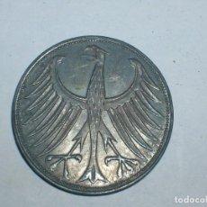 Monedas antiguas de Europa: ALEMANIA 5 MARCOS PLATA 1963 G (1924). Lote 207341561