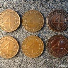 Monedas antiguas de Europa: ALEMANIA, 4 REICHSPFENNIG 1932 LOTE DE 6 CECAS. Lote 207356585