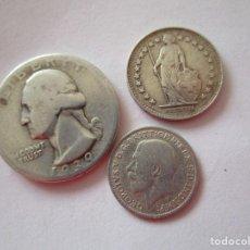 Monedas antiguas de Europa: LOTE DE 3 MONEDAS DE PLATA. Lote 207356676