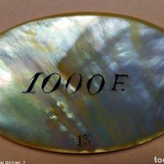Monedas antiguas de Europa: FICHA CASINO, 1000 FRANCOS * NACAR,CASINO TAMARIS. Lote 207721370