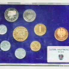 Monedas antiguas de Europa: AUSTRIA, 1983. SET OFICIAL PROOF DE 8 MONEDAS Y UNA MEDALLA. CECA DE VIENA LOTE 3016. Lote 207847836