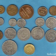 Monedas antiguas de Europa: SUECIA. 17 MONEDAS DE 17 MODELOS DIFERENTES. DE 1 ORE A 10 CORONAS. Lote 207868957