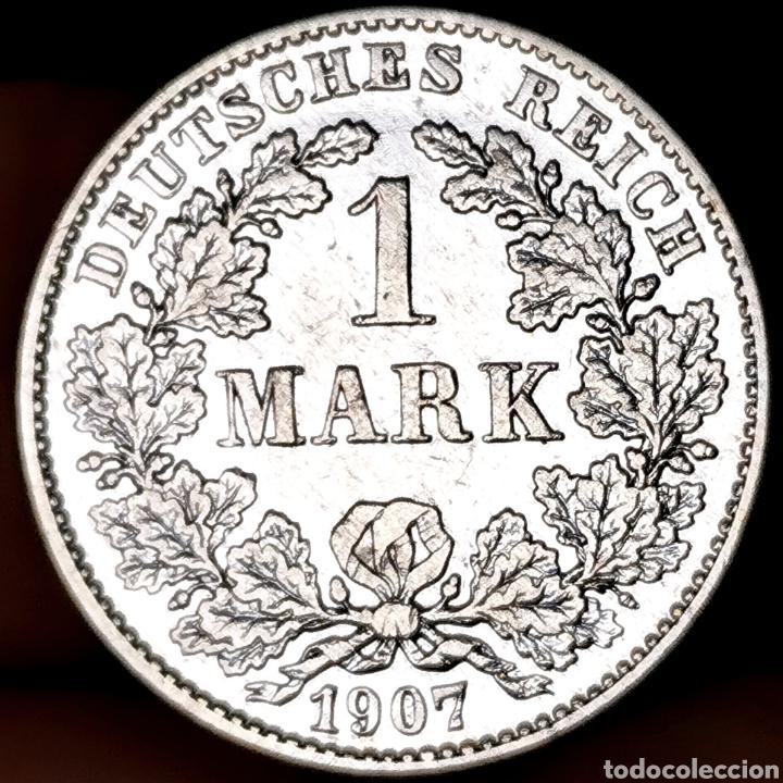 Monedas antiguas de Europa: PLATA. MUY ESCASA ASÍ. V. WC.: 150$. Alemania. 1 mark 1907G SC - Foto 2 - 207909853