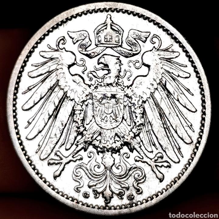 PLATA. MUY ESCASA ASÍ. V. WC.: 150$. ALEMANIA. 1 MARK 1907G SC (Numismática - Extranjeras - Europa)