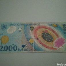 Monedas antiguas de Europa: BILLETE 2000 LEÍ. RUMANÍA 1999.. Lote 208062868
