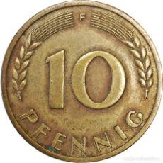 Monedas antiguas de Europa: ALEMANIA. 10 PFENNIG 1950, MARCA CECA F. (071).. Lote 208531663