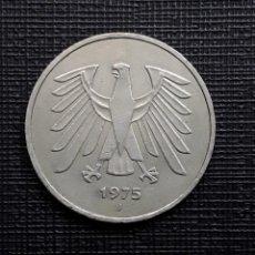 Monedas antiguas de Europa: ALEMANIA 5 MARCOS 1975 J KM.140.1. Lote 208755491