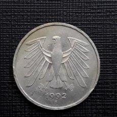 Monedas antiguas de Europa: ALEMANIA 5 MARCOS 1992 F KM.140.1. Lote 208755903