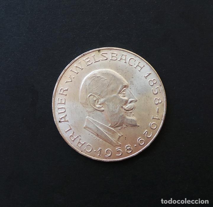 AUSTRIA.- 25 SCHILLING (CHELINES) PLATA 1958 CARL AUER, BARÓN DE WELSBACH. (Numismática - Extranjeras - Europa)