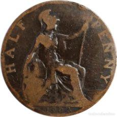 Monedas antiguas de Europa: REINO UNIDO. ½ PENIQUE (HALF PENNY) DE 1904 (EDUARDO VII). (142).. Lote 202792550