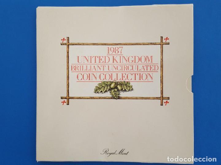 UNITED KINGDOM BRILLANT UNCIRCULATED COIN COLLECTION 1987 (Numismática - Extranjeras - Europa)