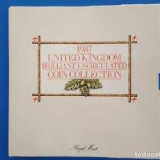 Monedas antiguas de Europa: UNITED KINGDOM BRILLANT UNCIRCULATED COIN COLLECTION 1987. Lote 209053568