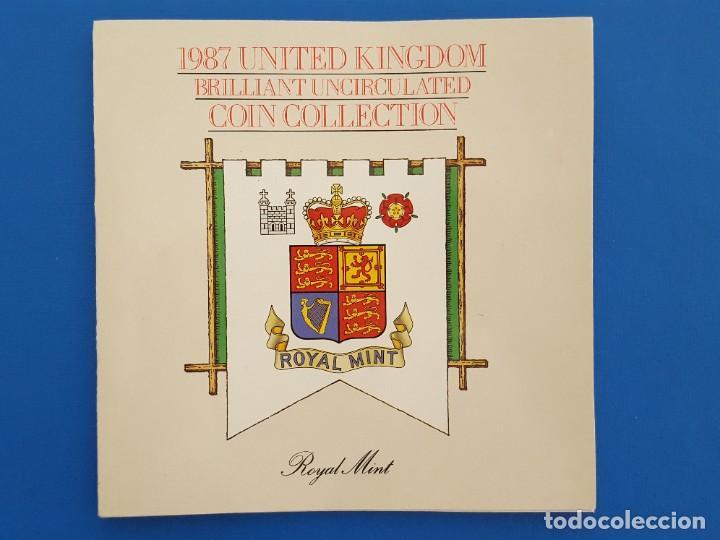 Monedas antiguas de Europa: UNITED KINGDOM BRILLANT UNCIRCULATED COIN COLLECTION 1987 - Foto 2 - 209053568