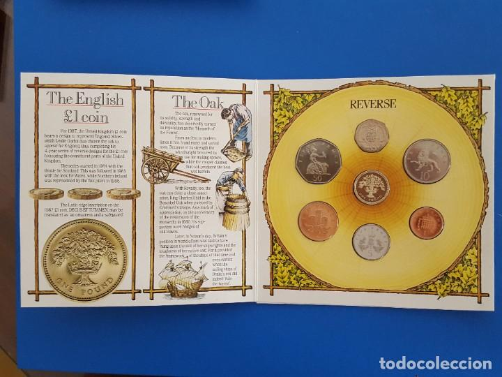 Monedas antiguas de Europa: UNITED KINGDOM BRILLANT UNCIRCULATED COIN COLLECTION 1987 - Foto 3 - 209053568