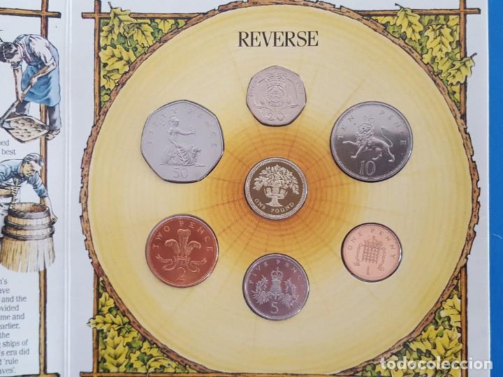 Monedas antiguas de Europa: UNITED KINGDOM BRILLANT UNCIRCULATED COIN COLLECTION 1987 - Foto 4 - 209053568