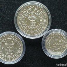 Monedas antiguas de Europa: PORTUGAL SERIE 500, 750 Y 1000 ESCUDOS PLATA 1983 XVII EXPO EUROPEA DE ARTE, CIENCIA Y CULTURA. Lote 209421983