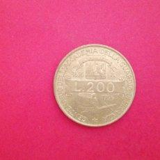 Monete antiche di Europa: 200 LIRAS DE ITALIA 1996. CONMEMORATIVA. Lote 209922142