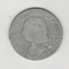 Monedas antiguas de Europa: ITALIA-SAVOIA- CARLO EMANUEL III- 1/2 ESCUDO- 1766- PLATA. Lote 210052845