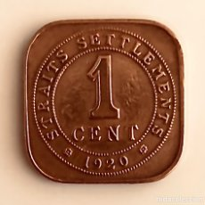 Monedas antiguas de Europa: 1 CENT 1920 STRAITS SETTLEMENTS IMPERIO BRITÁNICO. Lote 147612414