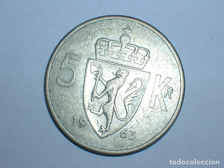 Monedas antiguas de Europa: NORUEGA 5 CORONAS 1963 (6052) - Foto 2 - 210428681