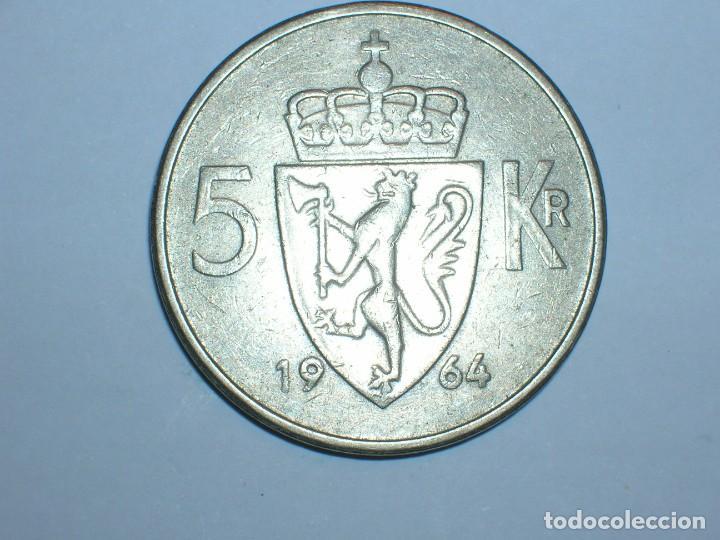 Monedas antiguas de Europa: NORUEGA 5 CORONAS 1964 (6054) - Foto 2 - 210428755